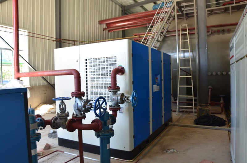 132kw Oil lubricated Pet bottle blowing screw air compressor