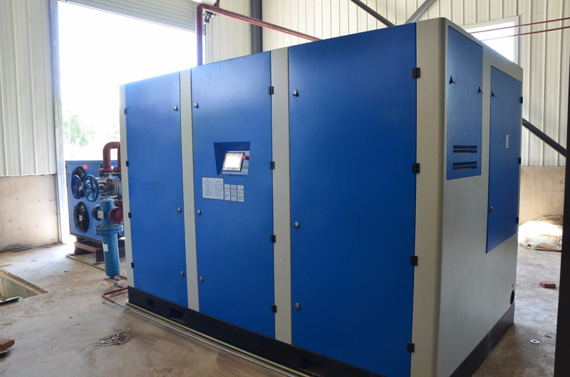 250kw 40bar Oil lubricated Pet bottle blowing screw air compressor