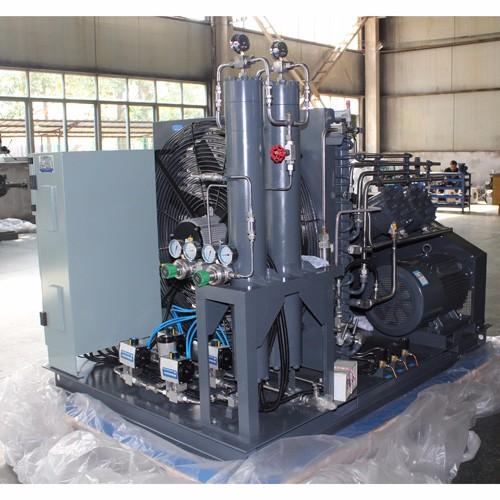 High pressure gas pipe testing oil free air compressor 40Mpa