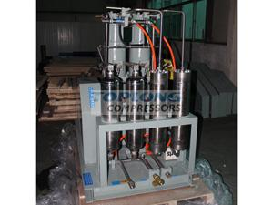 oil free high pressure recovery argon compressor in car
