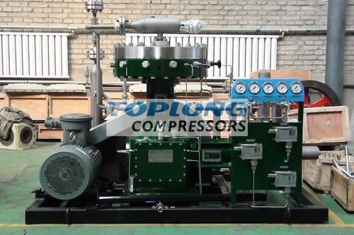 oil free high pressure two stage hydrogen diaphragm compressor
