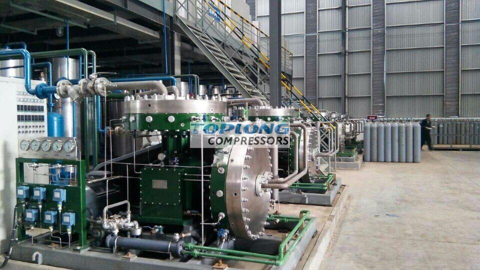 universal nitrogen recycle diaphragm compressor for sprinkler systems